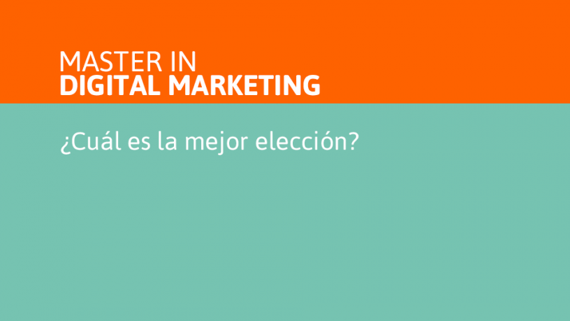 Master in Digital Marketing
